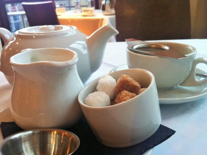 A pot of tea at the Avon Gorge Hotel, Bristol.