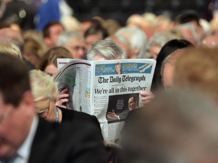 The Telegraph newspaper in the UK. ©Getty
