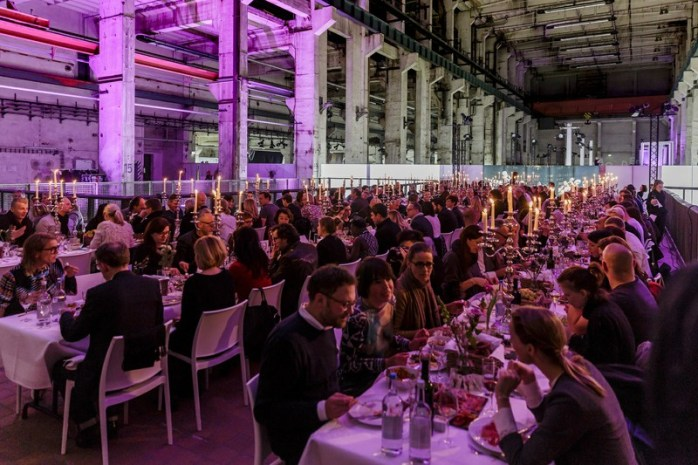 A Private Fashion Dinner hosted by SHOW&ORDER and Ten117 at Berlin Fashion Week. If you squint, you can just about see the back of my head, six seats in!