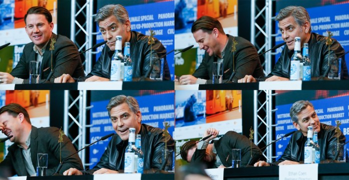 Channing Tatum, George Clooney and any questions you might have! © Berlinale