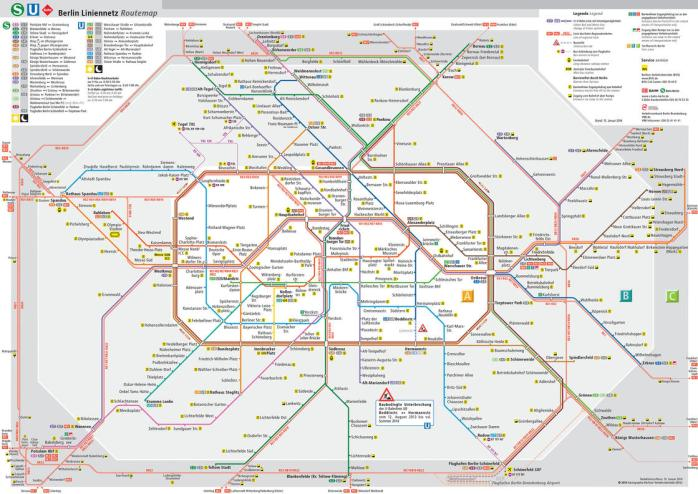 A map of the Berlin Public Transport Network - BVG