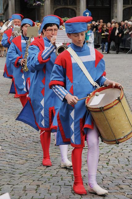 Hanswijk procession Musicians, Mechelen. in Belgium. © Jan Smets.