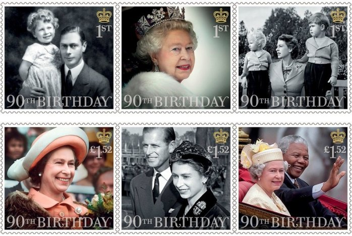 Royal Mail Stamps with the Queen's head!