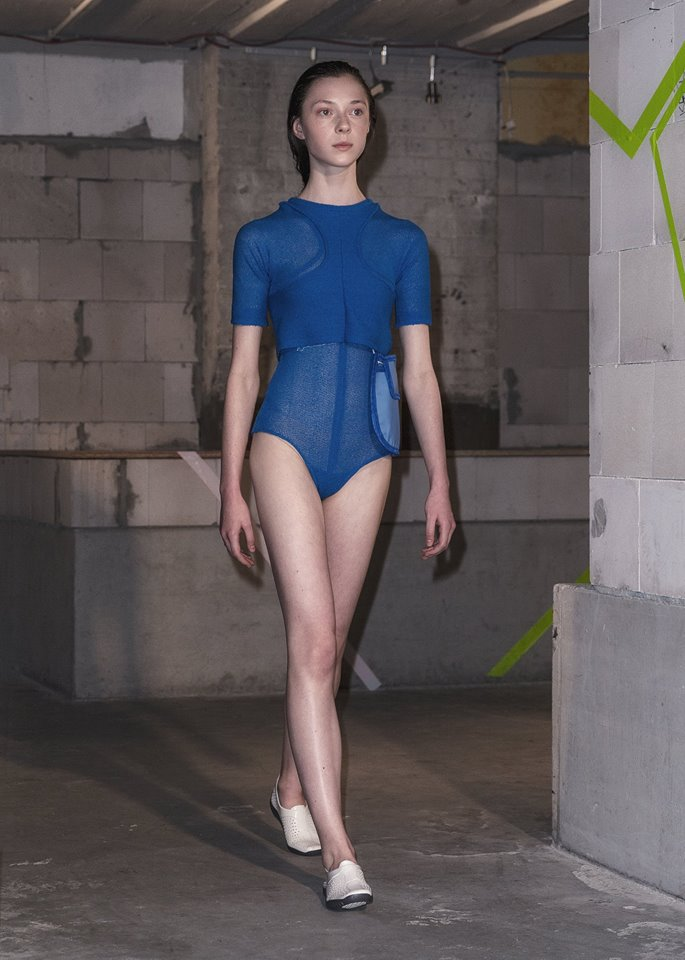 Fashion can be in the basement of the Generator Hostel in Berlin too! Sample - cm at Mercedes-Benz Fashion Week Berlin Spring/Summer 2017 ©Max Bertani