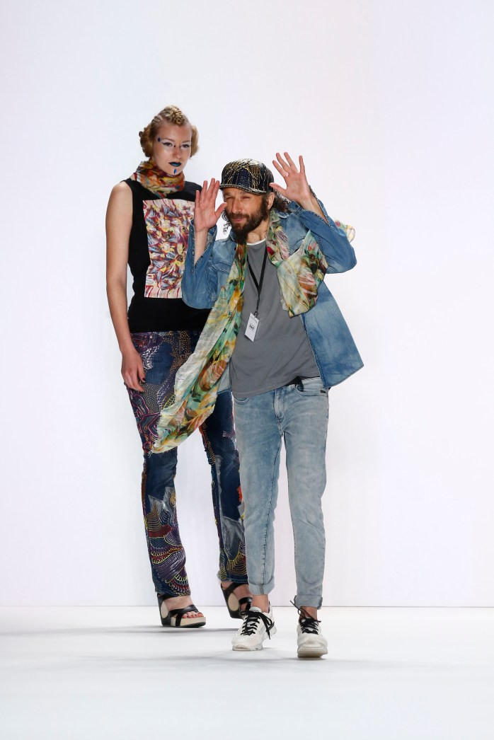Designer Johny Dar at his Jeans For Refugees By Johny Dar show - Mercedes-Benz Fashion Week Berlin Spring/Summer 2017 ©Peter Michael Dills/Getty Images for IMG