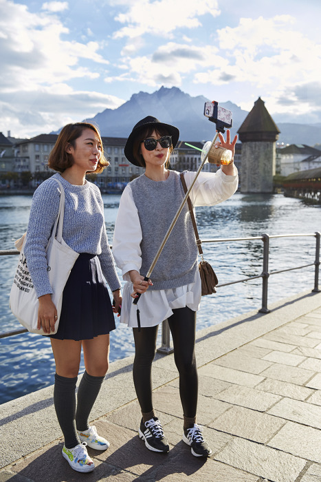 Tourists were refreshingly diverse in Lucerene. ©Emanuel Ammon/Luzern Tourismus