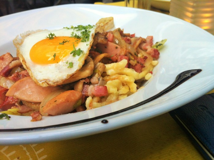 A most delicious Bosso Spätzle! How to eat cheaply in Luxembourg!