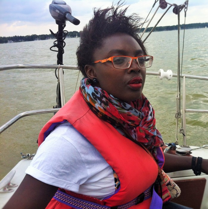 Myself on the boat in Marsdorf!