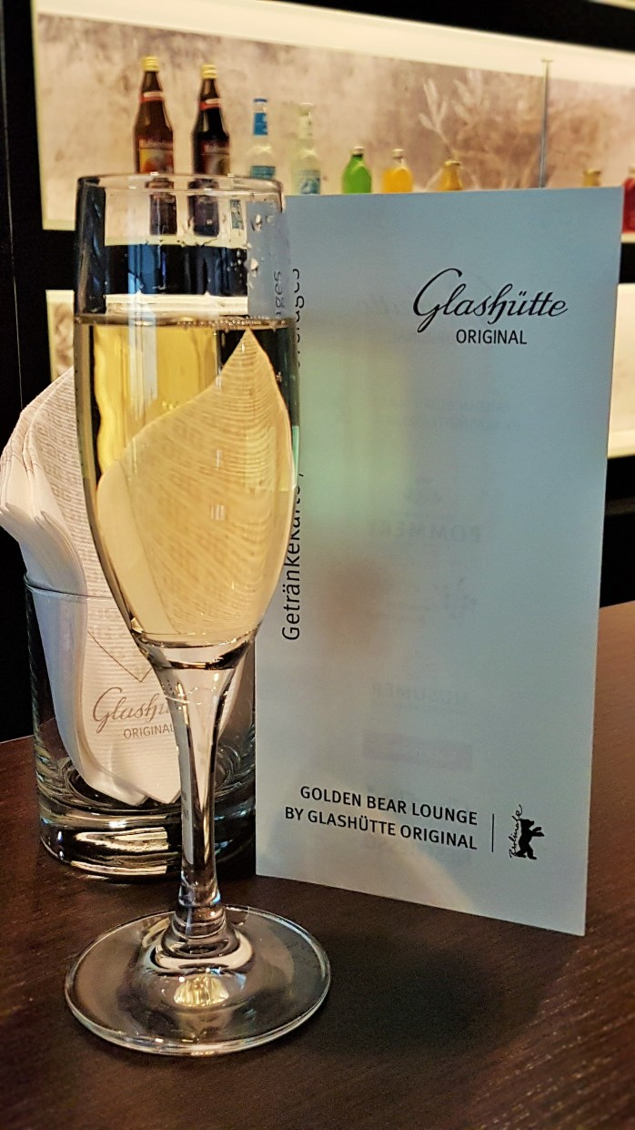 glass of champagne; champagne; Glashütte; Golden Bear Lounge; Golden Bear; Glashtte Original; Berlinale; Berlin International Film Festival; Internationale Filmfestspiele Berlin; International Film Festival; Film Festival; film; films; movies; festival; Berlin Films; Berlin; Germany