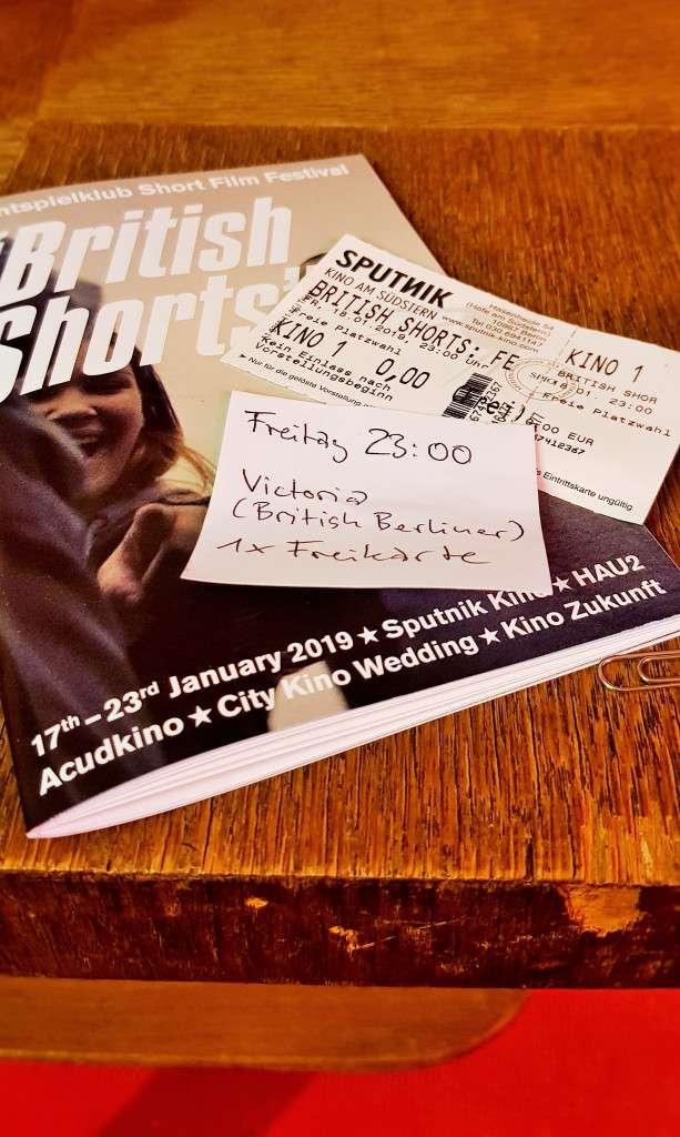British Shorts Film Festival; British Shorts; Short Films; British Films; Film Festival; British Festival; film; films; movies: British, Britain; Berlin; Germany