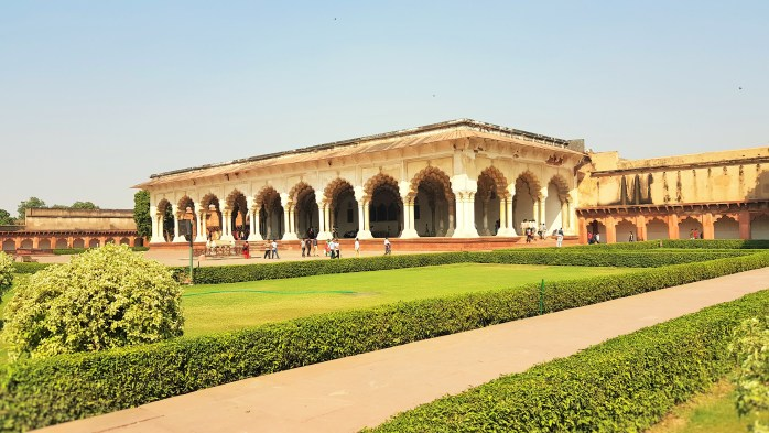 The Diwan-i-Am, or Hall of Audience in Agra, India