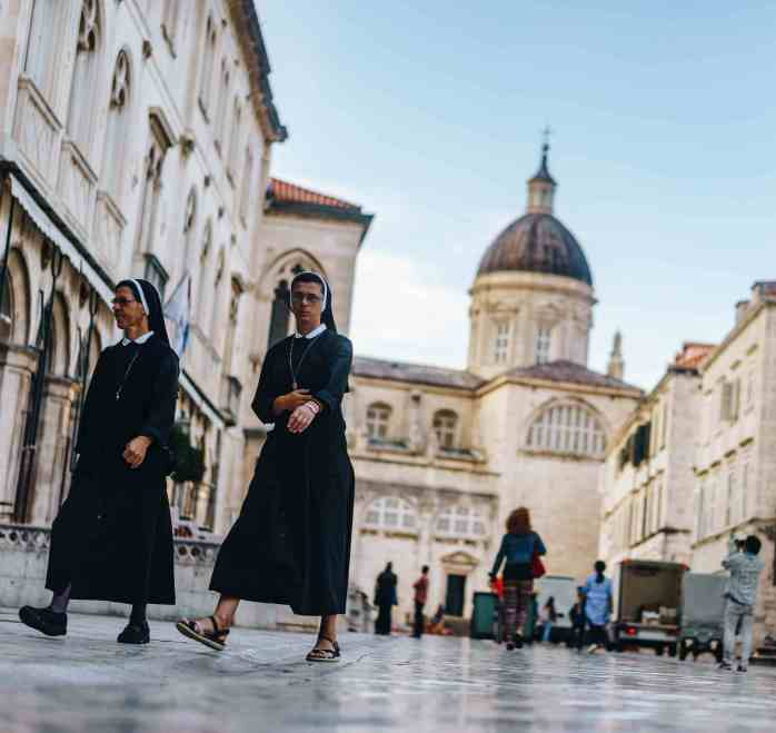 nun; nuns; Catholic nuns; catholic; worship, religion; religious; nuns in Dubrovnik; nuns in Croatia; Croatian nuns; Dubrovnik; Croatia; Europe; Europeans;
