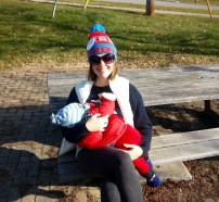 Nursing the Lord 2km into a 5km Ugly Sweater race!