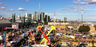 View of Canadian National Exhibition from the cable chair