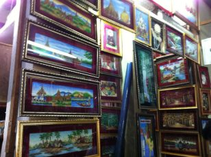 pictures in a store at Yangon. Myanmar