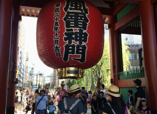 The entrance of Senso-Ji Temple, Japan