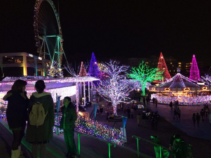Yomiuri land, the led playground