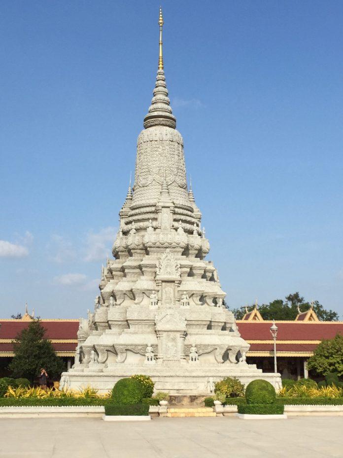 a temple inside Cambodian Royal Palace, Phnom Penh
