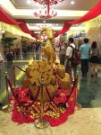 a decoration inside Naga World, the largest casino in Phnom Penh