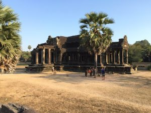 a building in the Angkor Wat area, Siem Reap