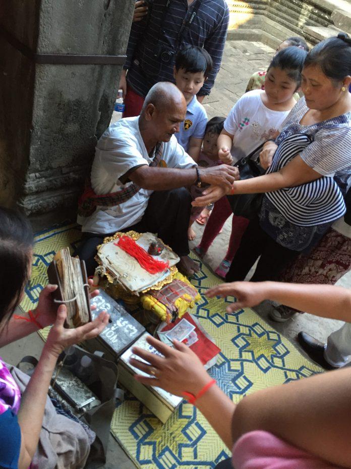 A fortune teller in Angkor Wat, Siem Reap