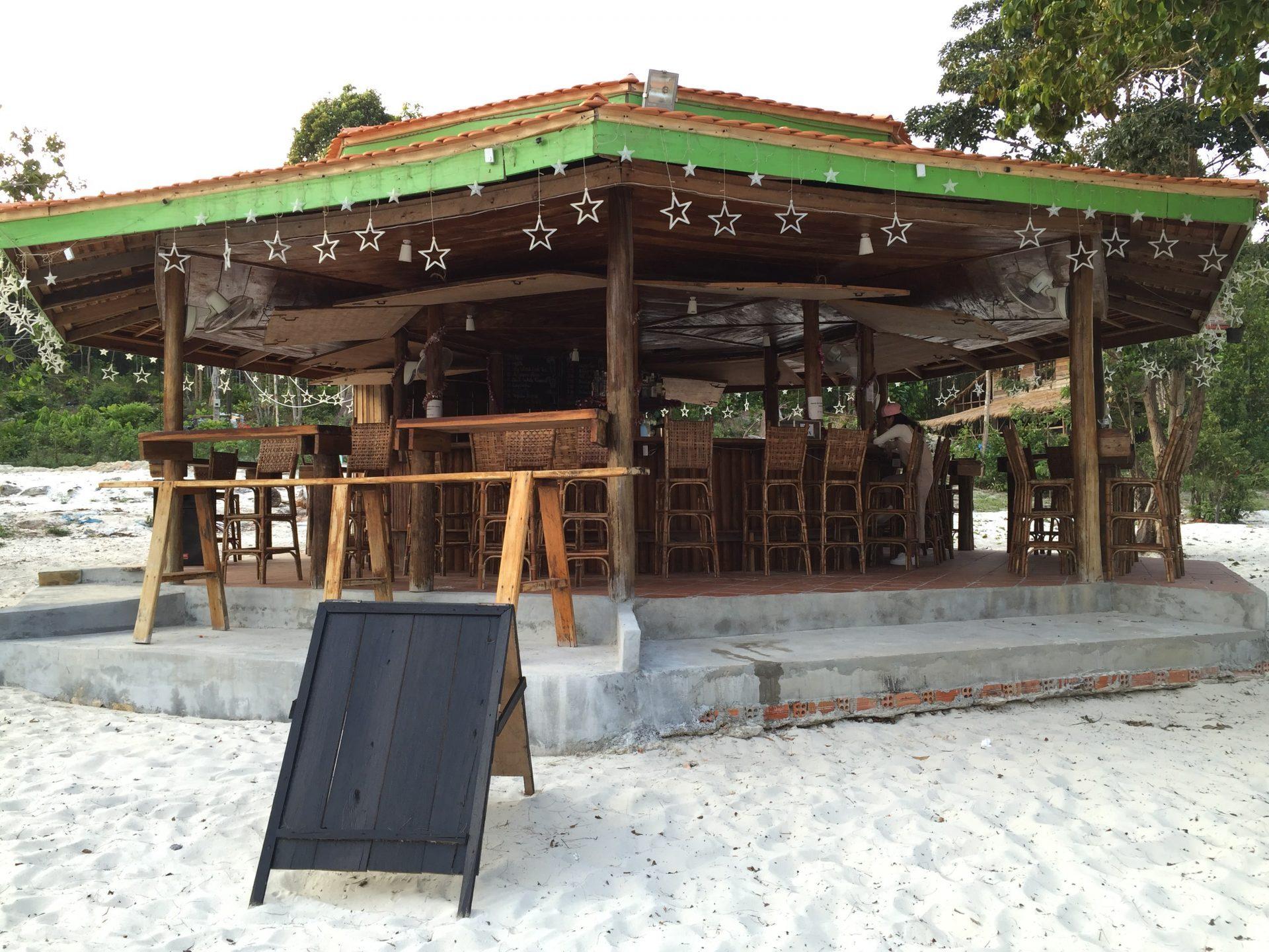 a bar at nature beach, koh rong island