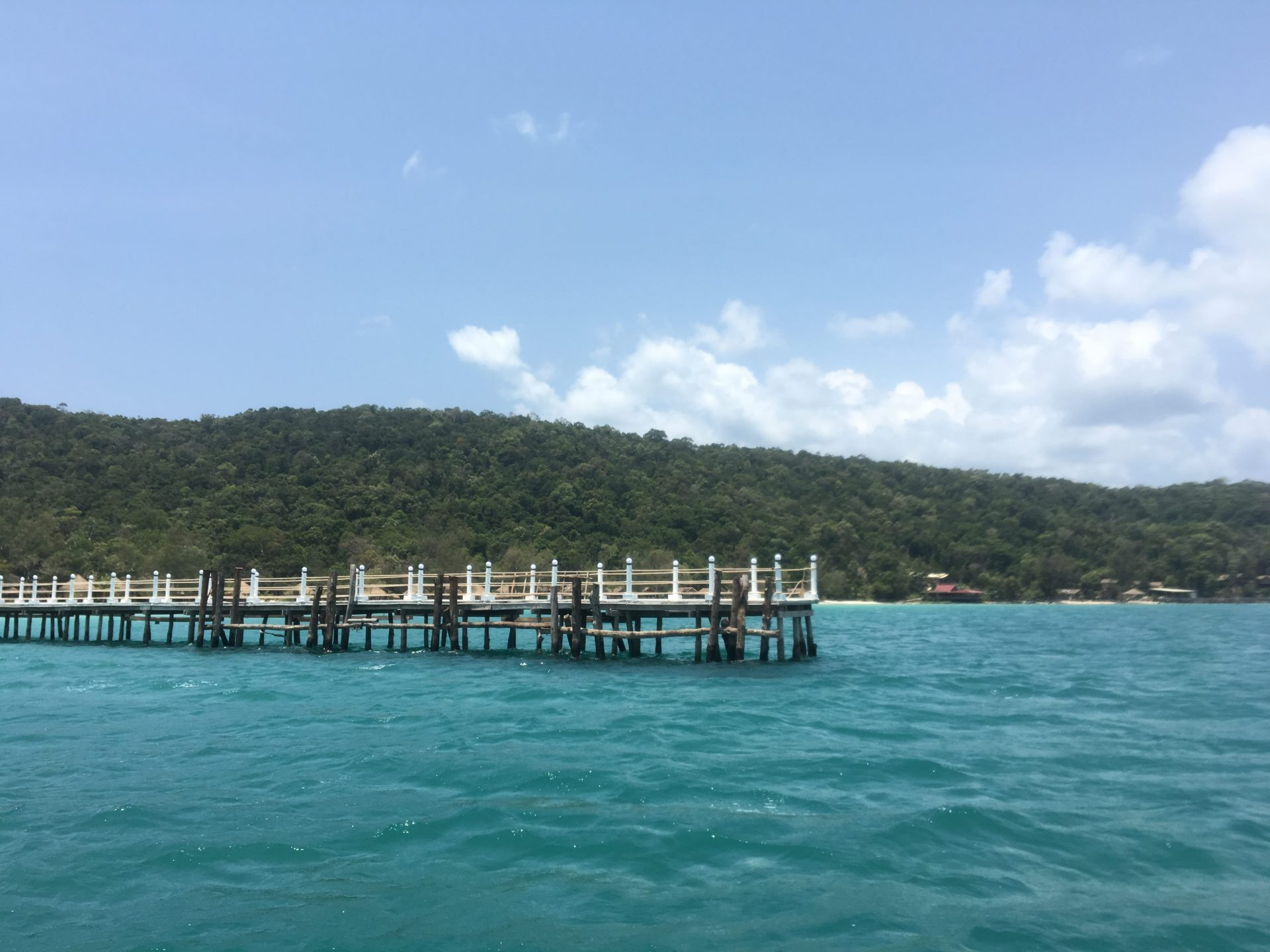 pier at nature beach, kohrong island
