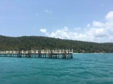 pier at nature beach, kohrong island