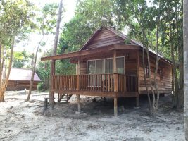 The bungalow that we stayed at Nature Beach.