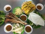 The Broad Life travel to Danang and eat Danang pancakes, lemongrass skewers, and grilled girdle-cake