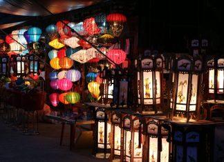 Lanterns light on at Hoi An Ancient Town