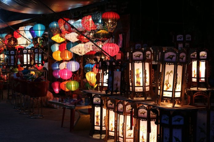 Lanterns light on at Hoi An Ancient Town