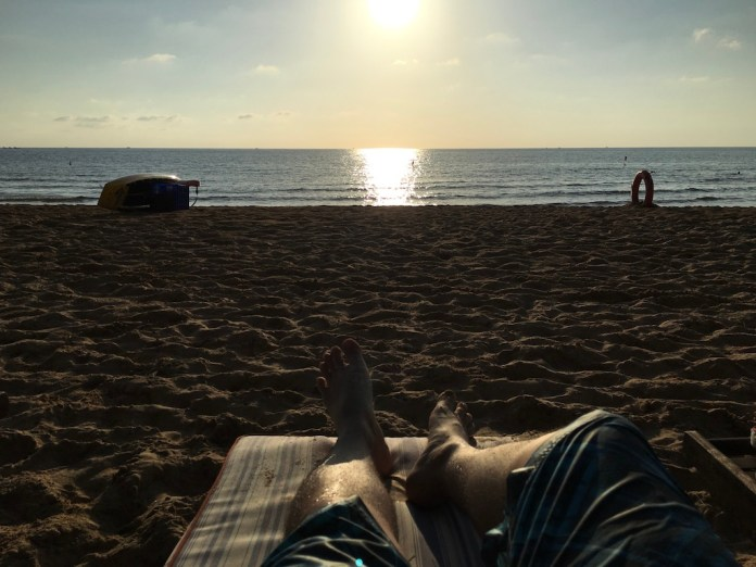 Long Beach in the noon at Phu Quoc Island, Vietnam