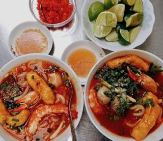 Bánh Canh Cua (or Crab Thick Noodle Soup), saigon food, vietnamese cuisine