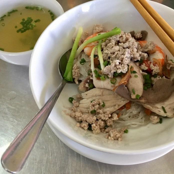 Hủ Tiếu Nam Vang (or Phnom-penh Clear Rice Noodle Soup), saigon food, vietnamese cuisine