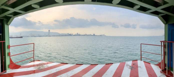 On the ferry going from Malacca to George Town