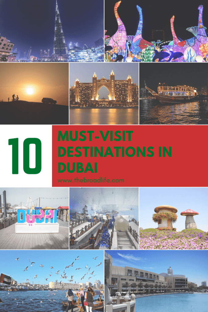 Pinterest Board of 10 Must-visit Destinations in Dubai - The Broad Life