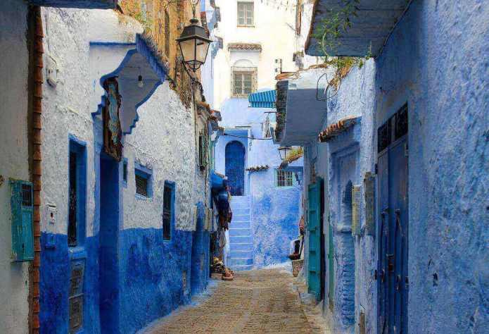an alley at marrakesh city, morocco