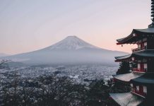 Chureito Pagoda, an attraction at Japan, Far East Asia