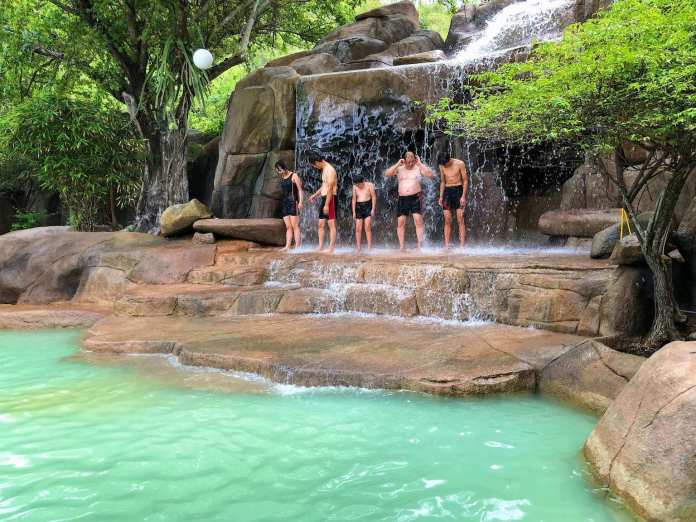 mineral waterfalls at i-resort, nha trang