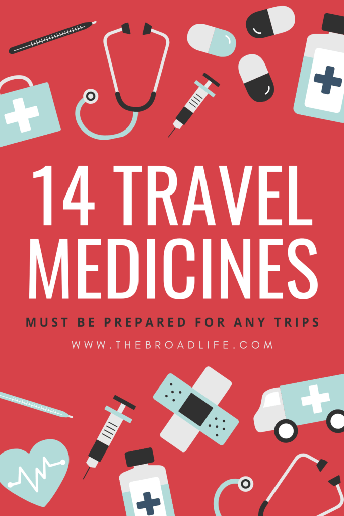 Pinterest Board of The Broad Life's 14 Travel Medicines