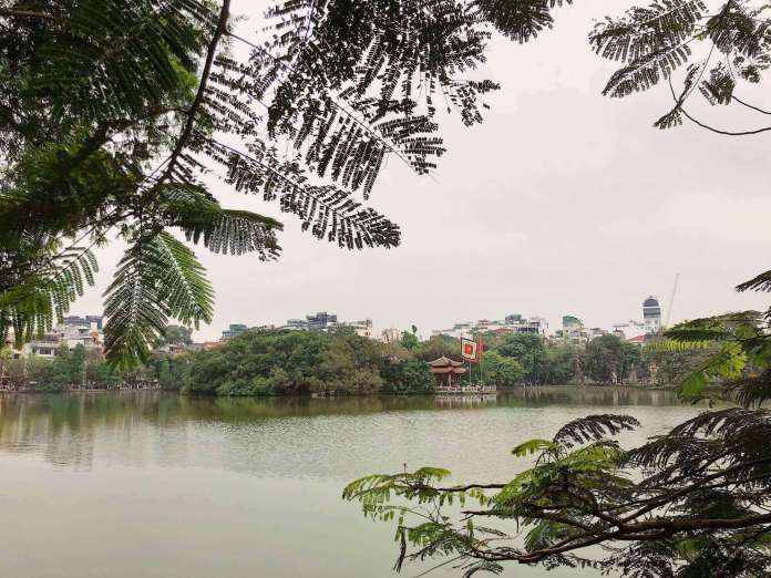 Hoan Kiem lake, Hanoi. I visited this two times in 2019