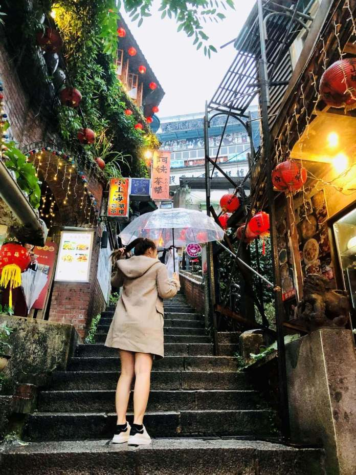 the main road at Jiufen Old Street, Taipei