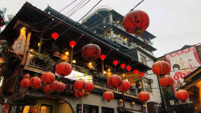 The iconic old houses at Jiufen village