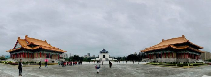 My last destination in Taipei and Taichung trip, National Chang Kai-shek Memorial Hall with view from the entrance