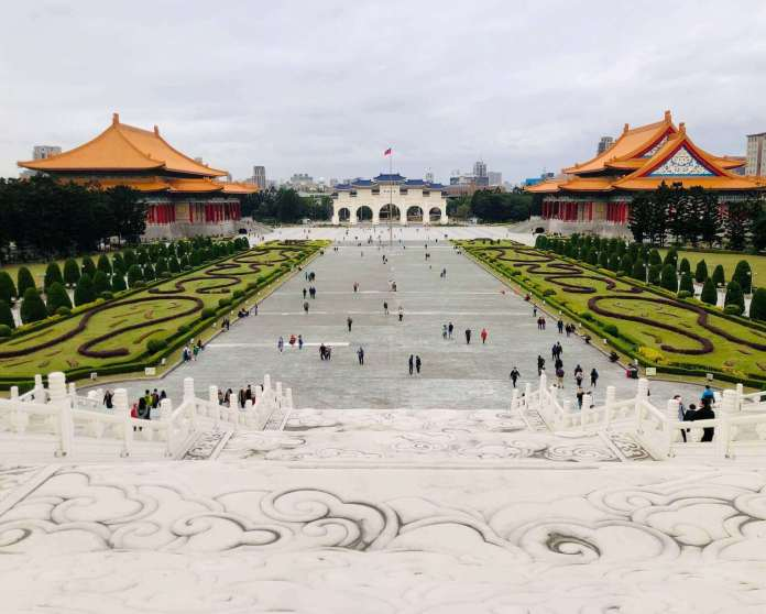 National Chang Kai-shek Memorial Hall area with view from the hall