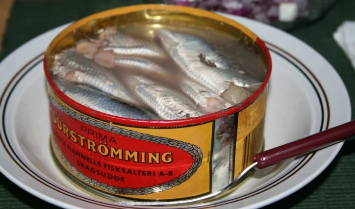 All the smelly foods list wouldn't be complete without Surströmming.
