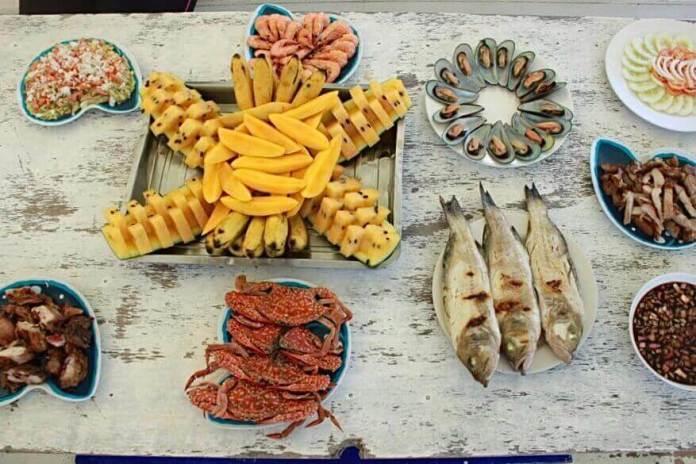 Seafood in El Nido