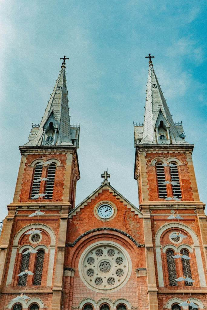 Front view of Saigon Notre Dame Cathedral