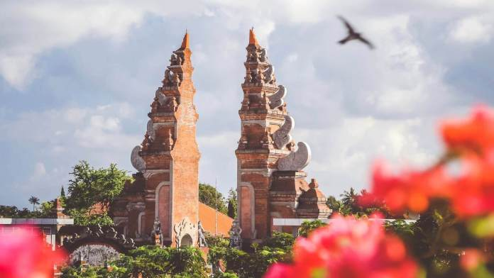 A gate-symbol found in Bali, Indonesia
